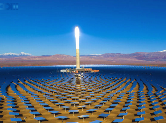 Morocco's NOOR II and NOOR III solar power project in Ouarzazate (Shandong Electric Power Construction Co.)